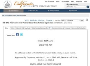 Senate Bill 272