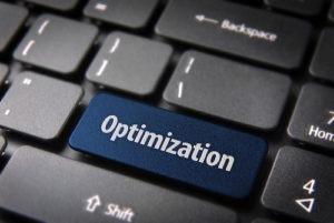 Blue key with Optimization word