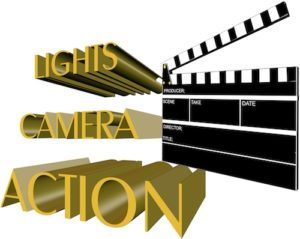 Lights camera action photo