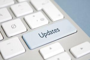 Updates button on keyboard