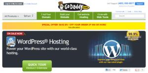 GoDaddy.com and WordPress
