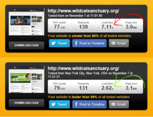 speed comparison screenshot